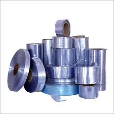 pvc shrink film bentuk roll uk. lebar 4cm - 85cm, panjang 500m, tebal 25 - 100mic